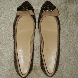 Talbots gold shoes. New never worn